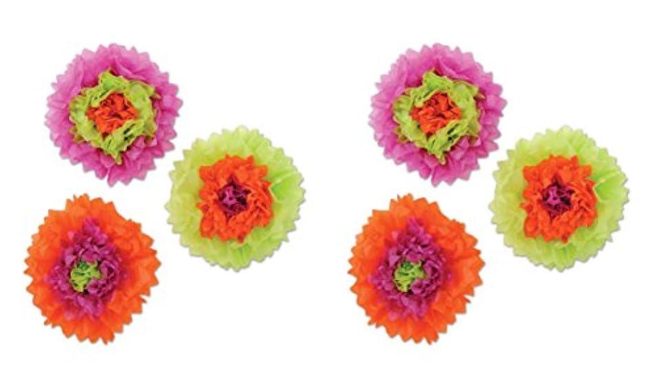 Beistle 00368 6Piece Tissue Flowers, 10