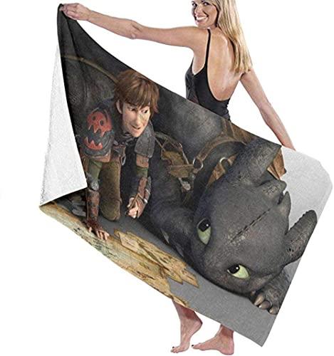XBBAO - Toalla de playa de dragón sin dientes para transferir la toalla de baño súper absorbente para pícnic para hombres y niñas, el mejor regalo