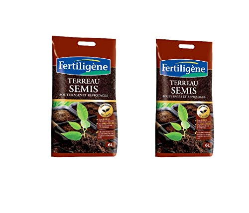 FERTILIGENE Terreau semis 6l bouturages et repiquages Lot de 2 FS6