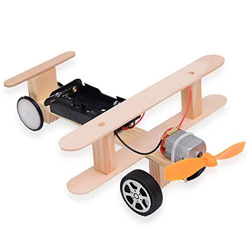 Kocreat Hélice Eléctrico Taxiing Avión-Motor Eléctrico Ciencia Física Juguetes-DIY Madera Ciencia Experimento...
