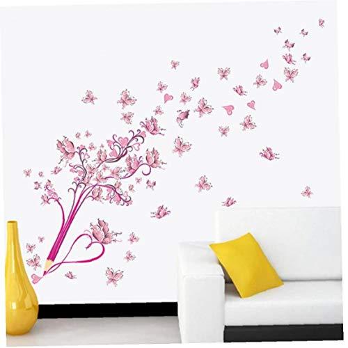 Buttrfly Blüten Bleistift Baum Removable Wohnzimmer Mädchen Schlafzimmer Wand Aufkleber DIY Home Decoration Aufkleber Mural