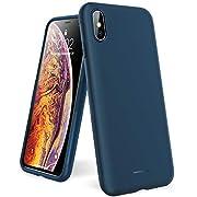 """UNBREAKcable Coque pour iPhone X XS 10 - [ Ultra-Fine & Antidérapante ] Bumper Silicone en TPU Lisse et Souple, Housse Étui de Protection Anti-Traces de Doigt Anti-Choc Anti-Rayure - Bleu 5,8"""""""