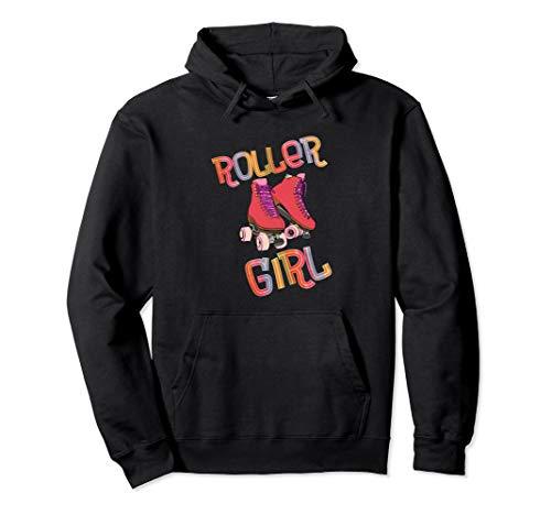 Rollschuh - Roller Girl - mit Rollschuhen laufen - 80er Pullover Hoodie
