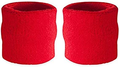 Unisex Pair of Wristbands Red (2 Wristbands)