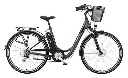 Telefunken E-Bike Elektrofahrrad Alu 28 Zoll mit 7-Gang Shimano Kettenschaltung, Pedelec Citybike leicht mit Fahrradkorb, 250W und 10Ah, 36V Sitzrohrakku, RC735 Multitalent*