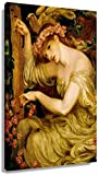 Posters para Pared El más Famoso del Pop Dante Gabriel Rossetti Un Hechizo del mar Romanticismo Cuadros Retro Póster de Arte Pintura de la Naturaleza Panel de Pared Colgante 60x90cm x1 Sin Marco