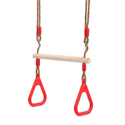 Houten Trapeze Swing Bar Verstelbare Gym Ringen voor Childrens Home Swing speeltoestellen Gym Fitness Rings Garden Toys
