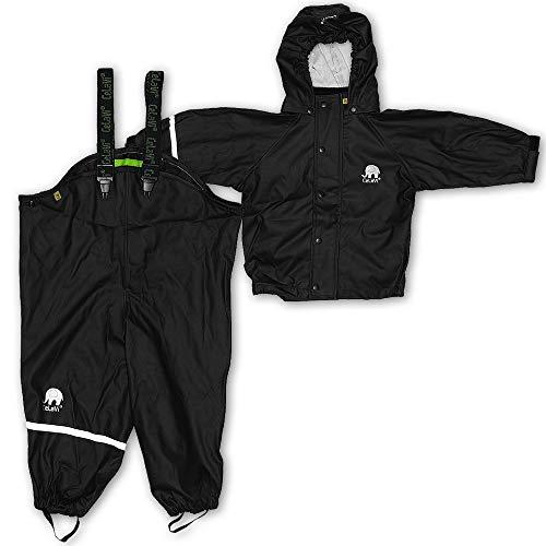 CeLaVi Baby - Jungen CeLaVi zweiteiliger Regenanzug in vielen Farben Regenjacke,,per pack Schwarz (Schwarz 106),(Herstellergröße:70)