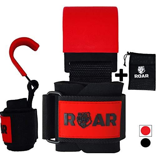 Roar® Ganchos Metal Levantamiento Peso Barra