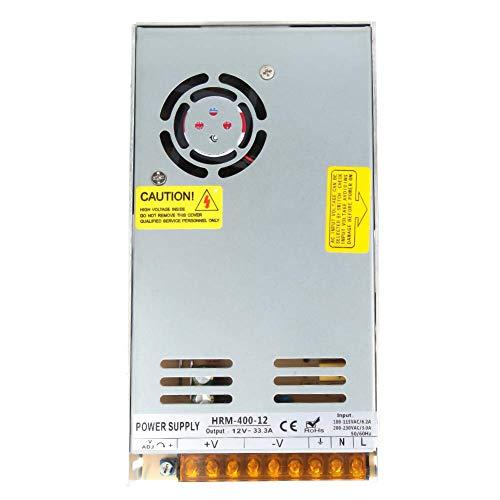 Fuente de alimentación conmutada, fuente de alimentación conmutada, 100V-115V AC o 200-230VAC a 12VDC, control inteligente PWM para tiras de luz LED