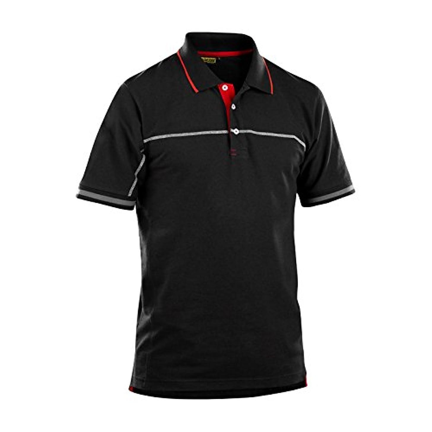 Blaklader 338910509956XXL Polo Shirt, XX-Large, Black/Red