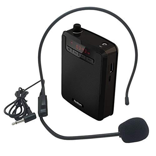 Riiai Rolton K300 - Amplificador de voz portátil LED con megáfono con...