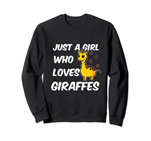 Just A Girl Who Loves Giraffes Lindo Disfraz De Jirafa Sudadera