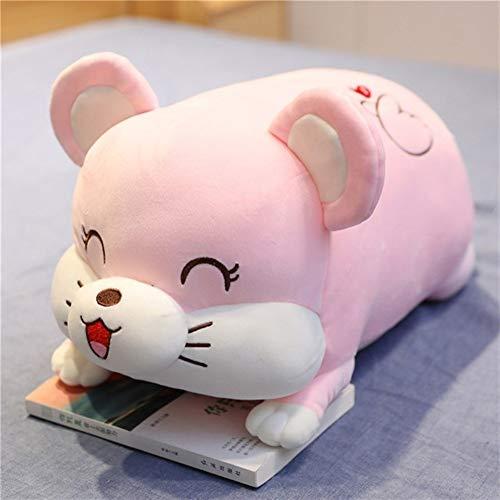 Reisedecke Weiche 2-in-1 Flugzeugdecke 2-in-1 Dual-Purpose Mouse Kissen Plüschtier Schlafdecke Klimaanlage Quilt Nap Backseat Mädchen-Geschenke GCSQF1020 (Color : Pink Mouse, Size : Pillow Blanket)