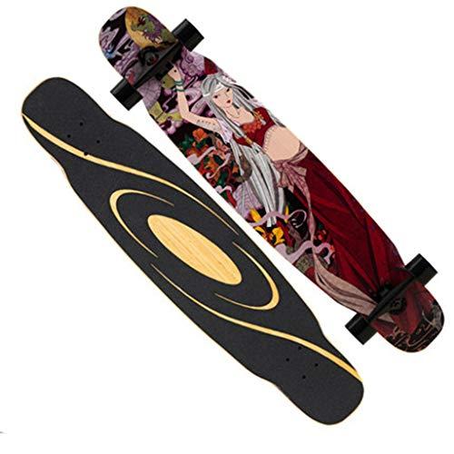 qwert Longborads Anfänger Pro Skateboards 46.5 Zoll Komplette Drop Down durch Deck Cruiser Longboard 7 Schichten kanadischer Ahorn zum Carvenieren von Freestyle-Fahrten im Downhill-Cruising
