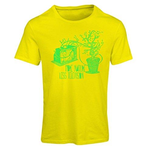 lepni.me N4325F Camiseta Mujer Mas Naturaleza (Large Amarillo Multicolor)