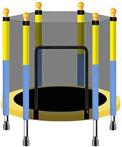 QAZ Mini Fitness Trampoline with Enclosure Net Rebounder Quiet and Safe Bounce Exercise Trampoline for Indoor Outdoor Exercise Jumper,3