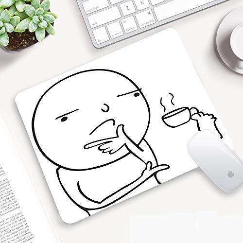 Gaming Mauspad 32x25 cm,Humor, nachdenklich Meme trinkt Kaffee mit seinen Füßen Waru,Mikrofaser Verbessert Geschwindigkeit und Präzision, Vernähte Kanten Rutschfest Gummierte Unterseite Verschleißfest