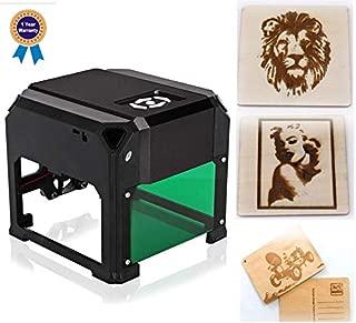 Smartlife レーザー刻印機レーザー彫刻機3000mWミニ卓上レーザー彫刻機DIYロゴレーザー彫刻機7.6X7.6CM