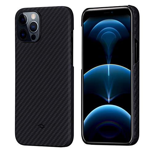 "PITAKA Magnetic Phone Cover for iPhone 12 Pro 6.1"" MagEZ Case Connectivity Slim Lightweight Aerospace Grade Aramid Fiber Precision Cut Case"