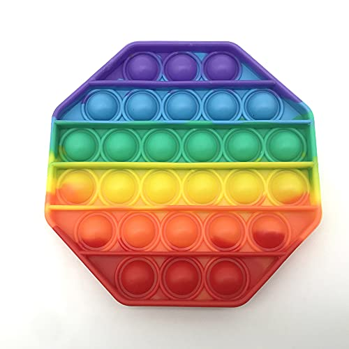 KUNSTIFY POP IT Fidget Toy Antistress Spielzeug für Erwachsene und Kinder Anti Stress Sensorik Popit Figetttoys, Fidget Toy Set Figuren Ball Figet Squishy Set Bubble Push pop Regenbogen Oktagonal