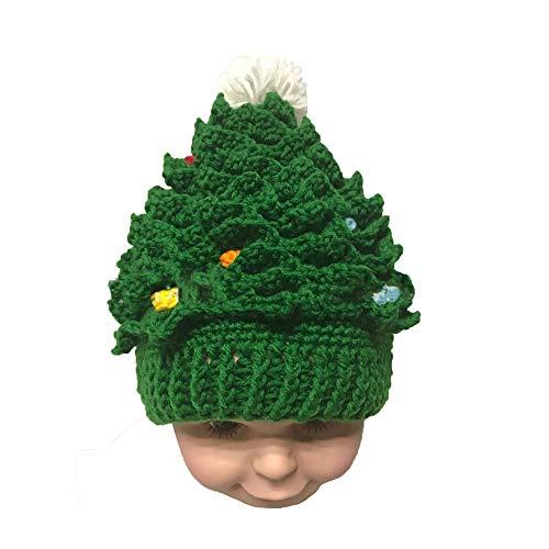 YBBGHH Unisex kinder Kerstmis winter gebreide muts haken kerstmuts feestelijke jurk up Bearded Caps