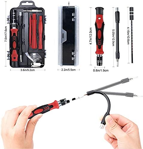 TEC TAVAKKAL 115 in 1 Interchangeble Multipurpose Mini Screwdriver Set Magnetic Slot Wrench Bits Repair Tools Kit Set Combination Screwdriver Set for Home Appliance,Laptop,Mobile,Computer
