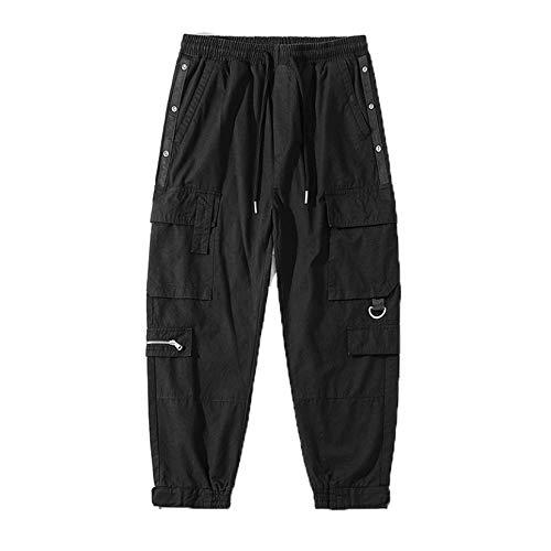Generic11 Pantaloni Cargo da Uomo Pantaloni Morbidi e Comodi Pantaloni Multitasche Resistenti all Usura Street Wear Tuta Larga