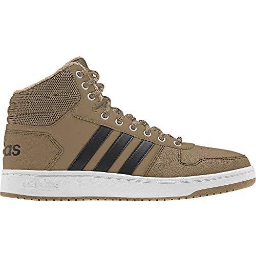 adidas Hoops 2.0 Mid, Herren Basketballschuhe, Braun (Cardboard/Cblack/Ftwwht), 42 2/3 EU (8.5 UK)