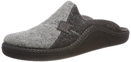 Romika Herren Mokasso 302 Pantoffeln, Grau (Hellgrau-Kombi 721 721), 47 EU