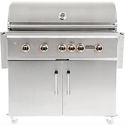 Coyote S-series 42-inch 5-burner Freestanding Natural Gas Grill With Rapidsear Infrared Burner & Rotisserie
