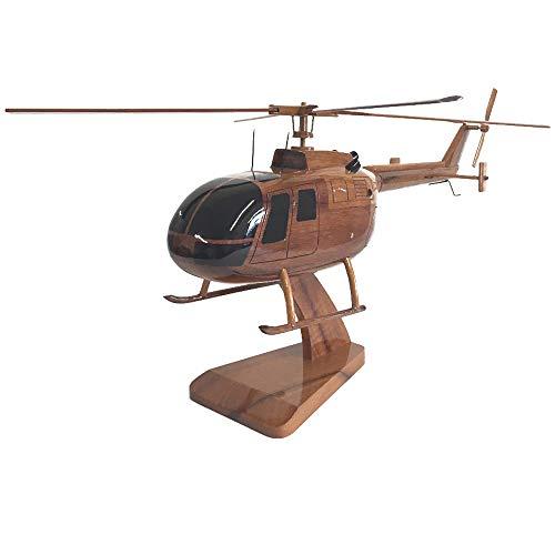 Messerschmitt-Bölkow-Blohm Bo 105 Civilian Hubschrauber Executive Mahagoni Modell