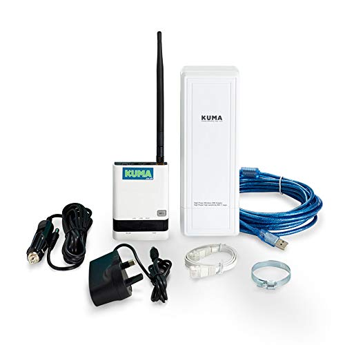 KUMA Wifi Hotspot Booster Kit - Wi-Fi Signal Extender with Router Antenna for Caravan Motorhome Car...