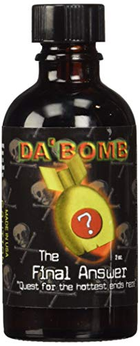 Da'Bomb - The Final Answer - Original Hot Sauce - 1,500,000 Scovilles - 2oz Bottle - Made in USA with Habanero Peppers- Non-GMO, Gluten Free, Sugar Free, Keto - Pack of 1