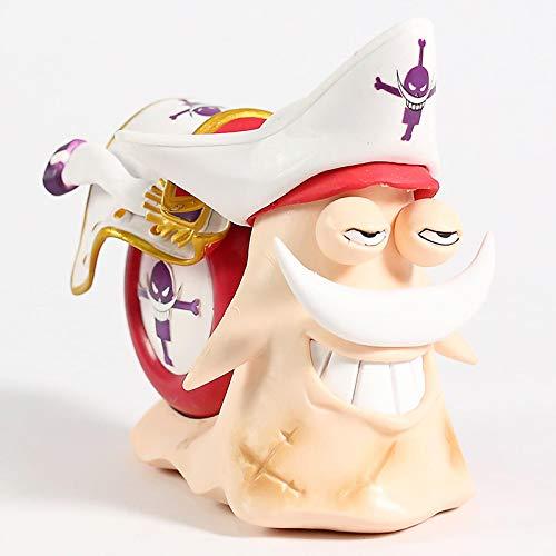 12Cm One Piece Edward Newgate Whitebeard Den Den Mushi, PVC Figure Model Brinquedo Toy
