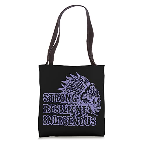 Strong Resilient Indigenous Peoples Day Native Headdress Art Tote Bag