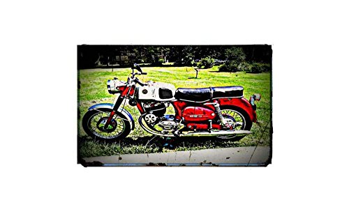 1961 Puch 250 Bike Motorcycle A4 Photo Print Retro Aged Vintage