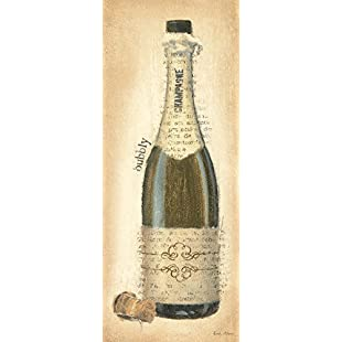 DìMò ART Print on Canvas with Wooden Frame Adams Emily Bubbly Champagne Bottle 200x80 CM 200x80 Cm:Hdmoviedownload