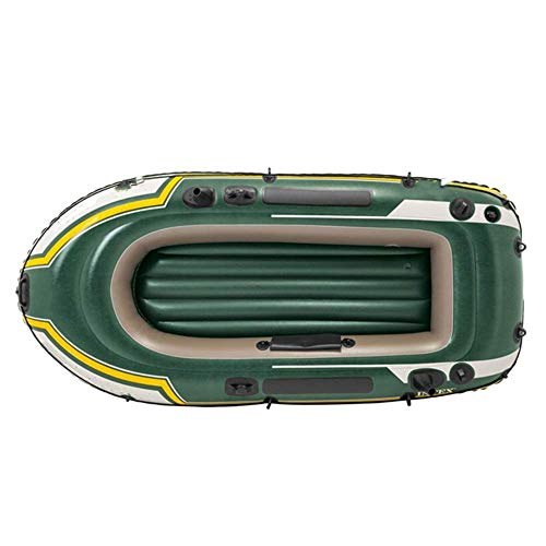 YYhkeby Barco Inflable Kayak 2 Persona Remo de Goma Barco de Remo Engrosado Agua Deportes Natación Pesca A la Deriva del ejército Verde Paddle y Jialele (Color : Green)