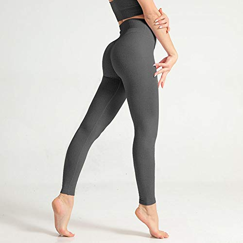Leggings Casuales De MujerModa Mujer Leggings Skinny High Elastic Waist Push Up Tobillo Leggings De Nailon Workout Solid