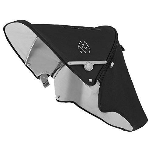 Maclaren Techno XT Capucha - Capucha extensible UPF50 + / impermeable que se adapta a los buggies Techno XT. Disponible en negro/plateado