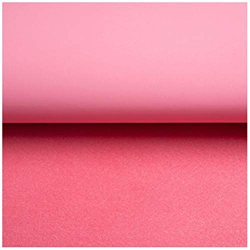 SSYBDUAN Möbelstoff Premium Bezugsstoff Zum Kunstleder Stoff Kunstleder Mattes Material für Schlafsofa Rucksack Autositzbezüge, Verschleißfest und Wasserdicht , 138x100cm (4,5 Fuß X 3,3 Fuß) Pink