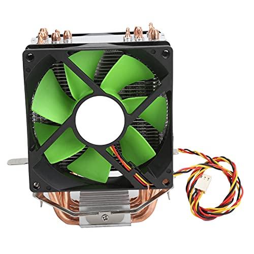 Enfriador de CPU de 9 cm, radiador de CPU de Doble Ventilador de 3 Pines, 12 V, Apto para Intel LGA775 / 1155/1156/1366 AMD AM2 / AM2 + / AM3, Verde
