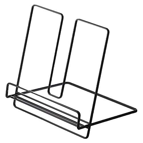 XuBa Multifunktions-Desktop-Lagerregal aus Schmiedeeisen für Book File Magazine Schwarz