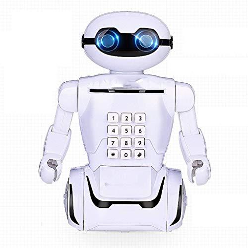 XHAEJ Money Banks Children's Anti-Fall Piggy Bank Creative Robot Contraseña Caja Máquina de depósito Piggy Banks...