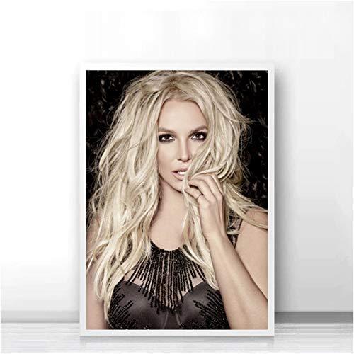 LGXINGLIyidian Britney Spears Poster su Tela Wall Mural Wall Sticker Carta da Parati in Bianco E Nero Room Decor C216F 40X60Cm