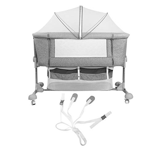 Lowest Prices! Baby Crib, Height Adjustable Portable Folding Baby Crib Fold Travel Crib with Canopy ...