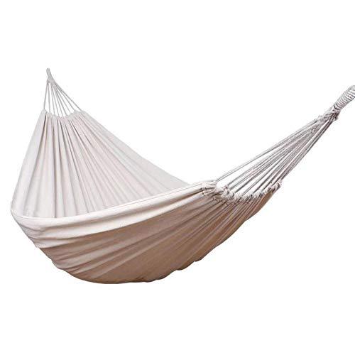 Aolongwl hamaca al aire libre 200x150cm colgante hamaca silla hogar jardín al aire libre swing viaje camping lona hamaca boda fiesta playa