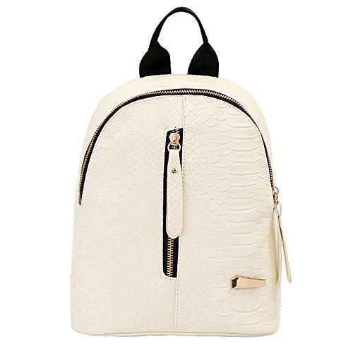 Goddessvan Retro Backpack Purse for Women Lightweight Waterproof Travel Bags Ladies Notebook Bag White