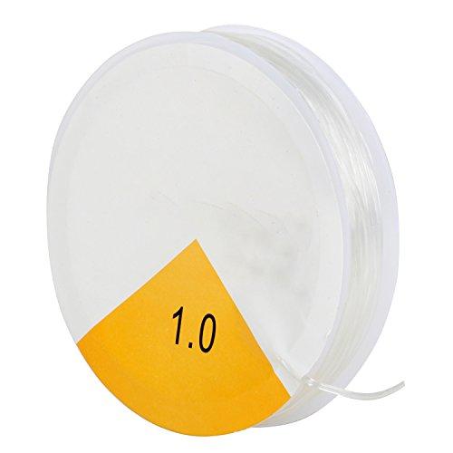 TRIXES Gummiband für Armbänder - Rolle mit transparentem elastischem Faden von 1 mm für Perlenschmuck, 8m Armband Schnur